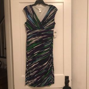 NWT! Flattering multi color dress